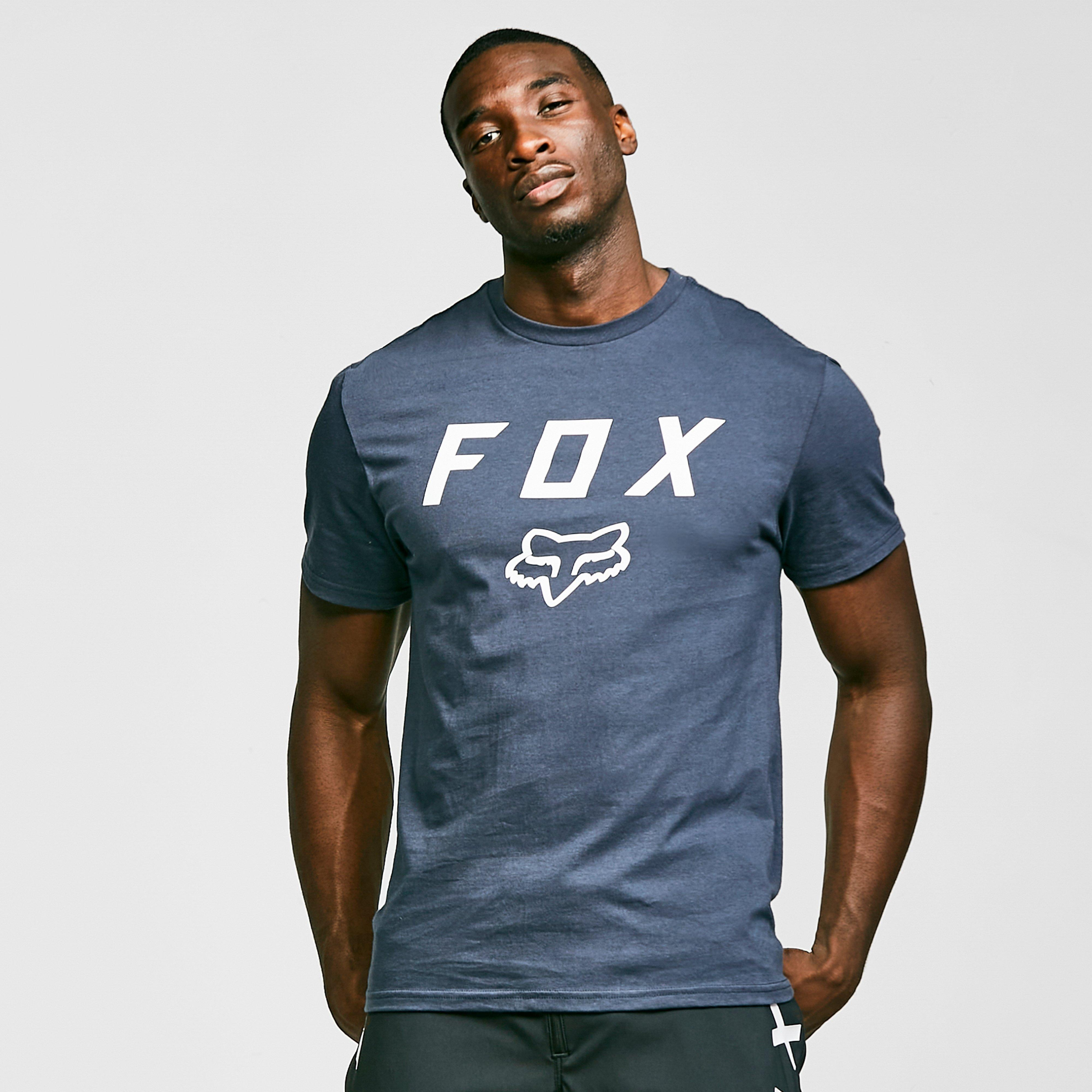Image of Fox Men's Legacy Moth Short-Sleeve Tee - Blue/Blue, BLUE/BLUE