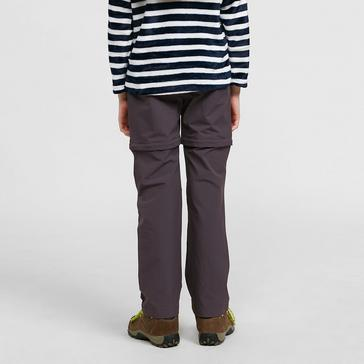 Grey Regatta Kids' Hikefell Stretch Zip-Off Trousers