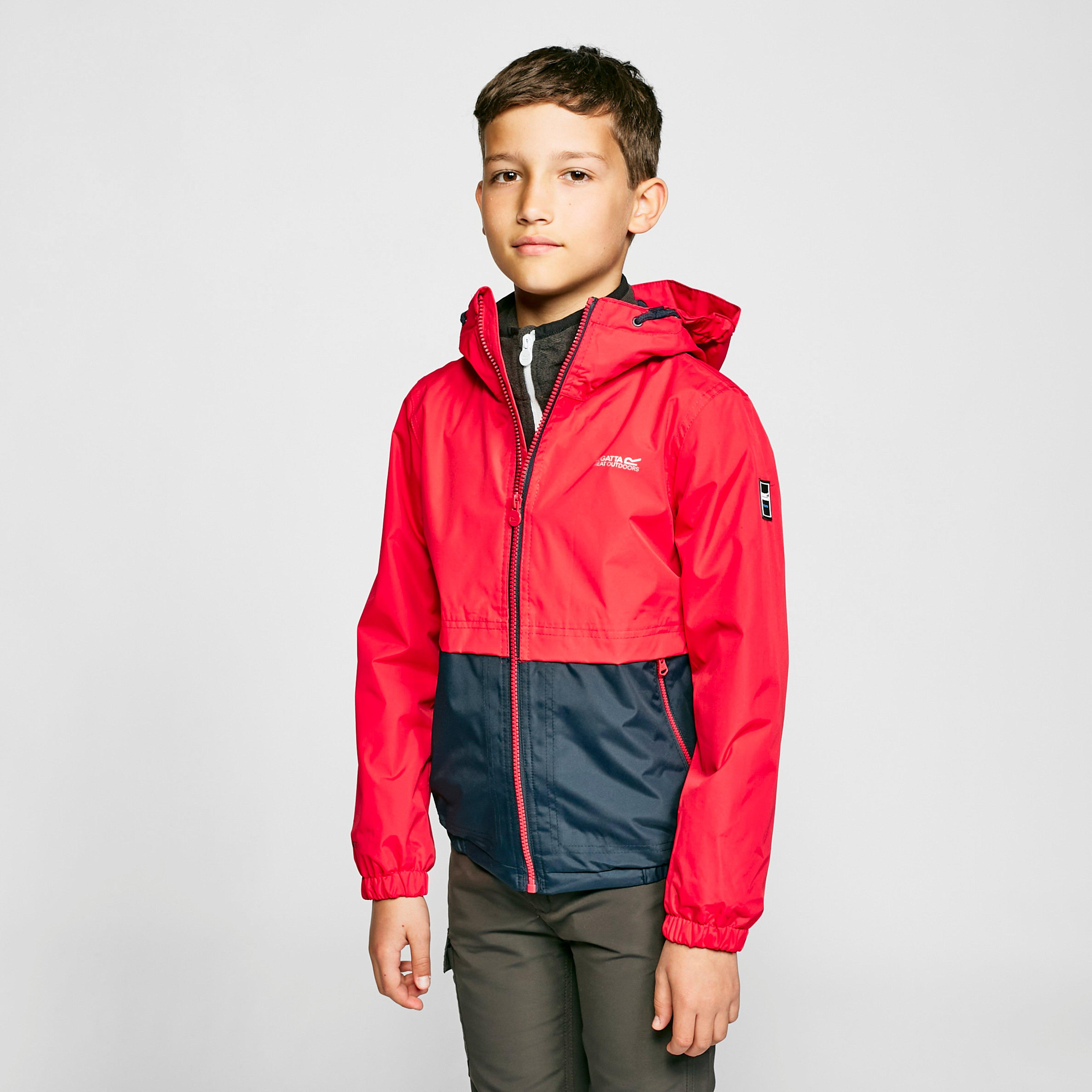 Regatta Kids' Haskel Waterproof Jacket - Nvy/Red/Nvy/Red, Navy/Red