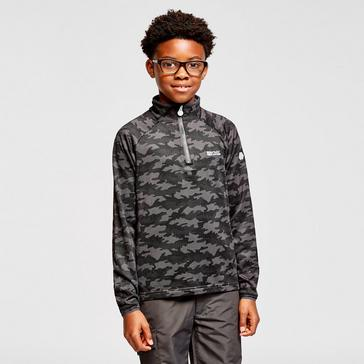 Grey Regatta Kids' Highton Half-Zip Fleece