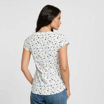 WHITE Peter Storm Women's Ditsy Print Short Sleeved Tee