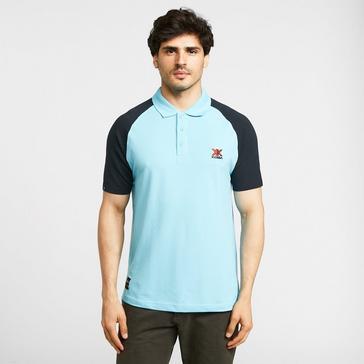 blue KLOBBA Men's Raglan Polo Shirt