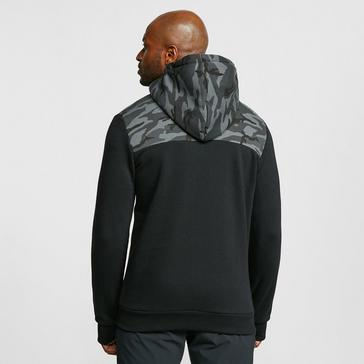 black KLOBBA Men's Camo Full Zip Hoodie