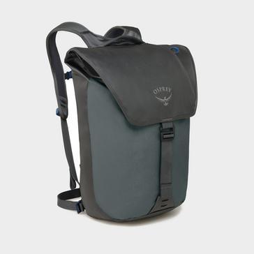 Grey Osprey Transporter Flap Backpack