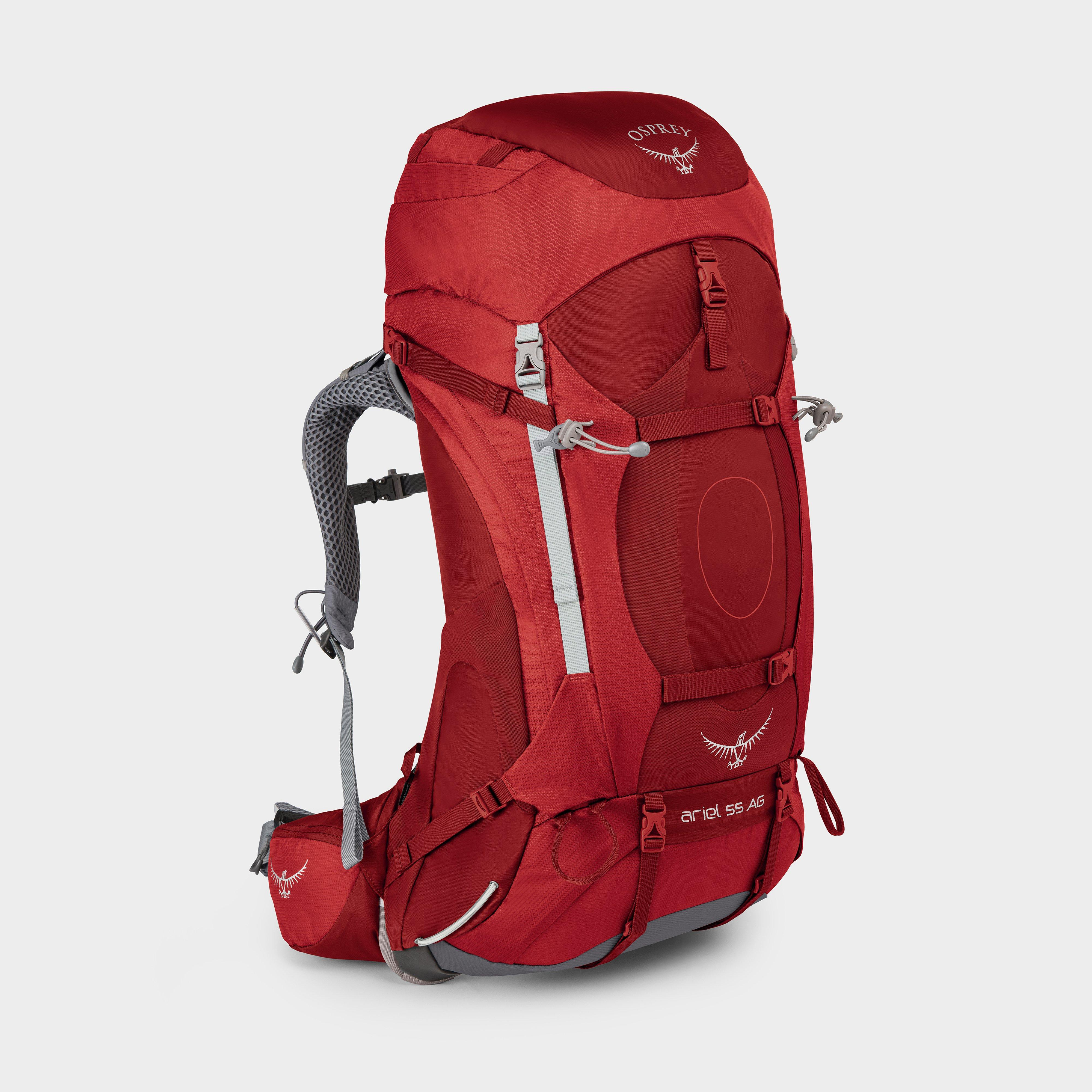 Osprey Ariel Ag 55L Women's Rucksack (Small) - Red/Red, Red