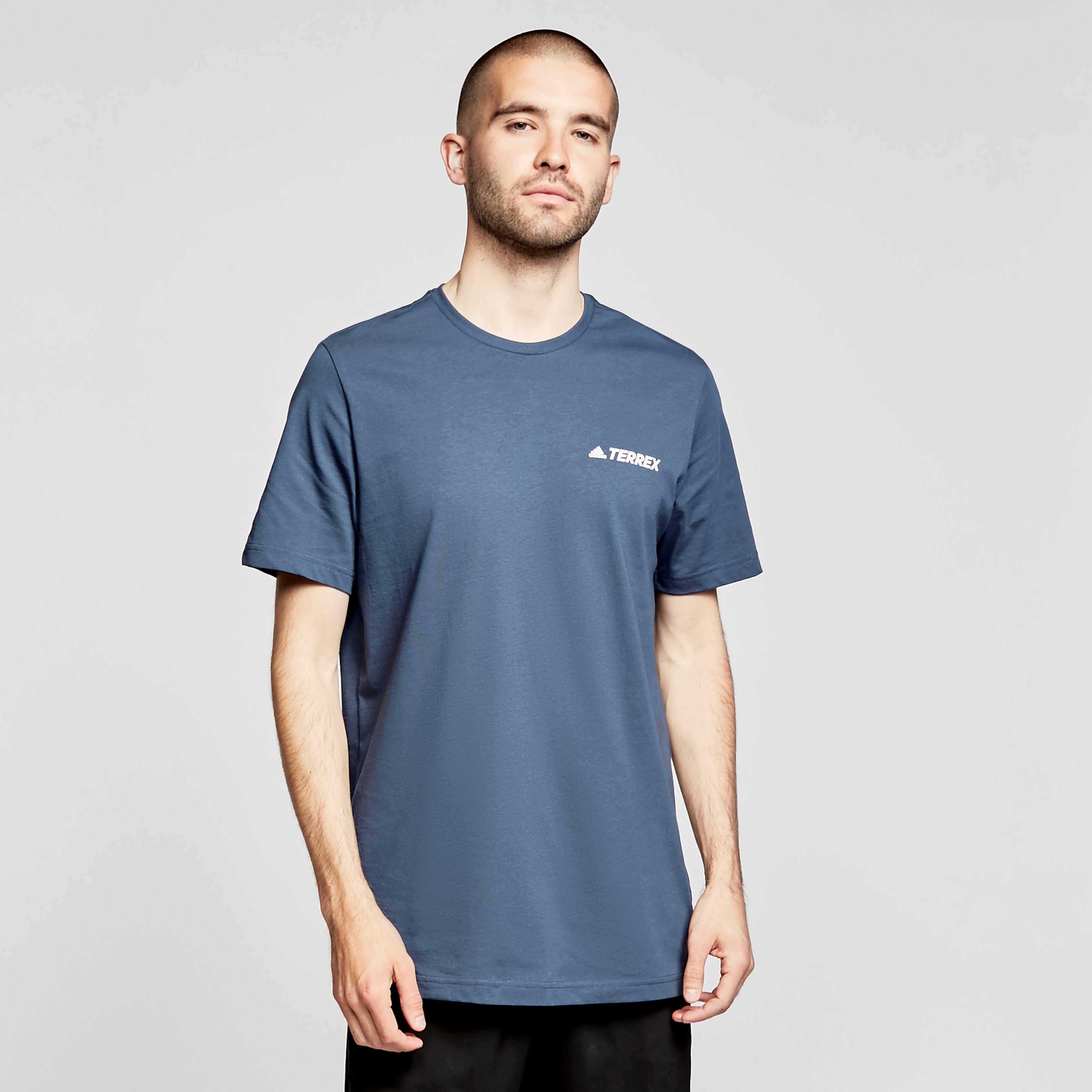 Image of Adidas Men's Rocklogo Short-Sleeve Tee - Navy/Navy, NAVY/NAVY