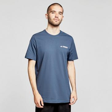 NAVY adidas Men's Rocklogo Short-sleeve Tee