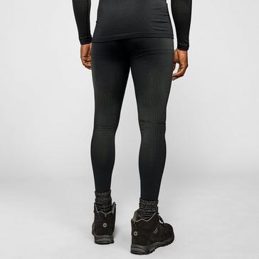 Black Odlo Men's Performance Warm Eco Baselayer Pants
