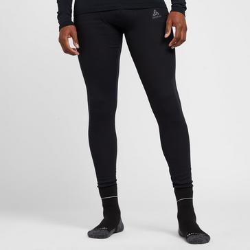 Black Odlo Men's Active Warm Eco Long Baselayer Bottoms