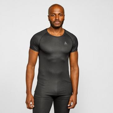 Grey Odlo Men's Active F-Dry Light Eco Short Sleeve BaseLayer Top