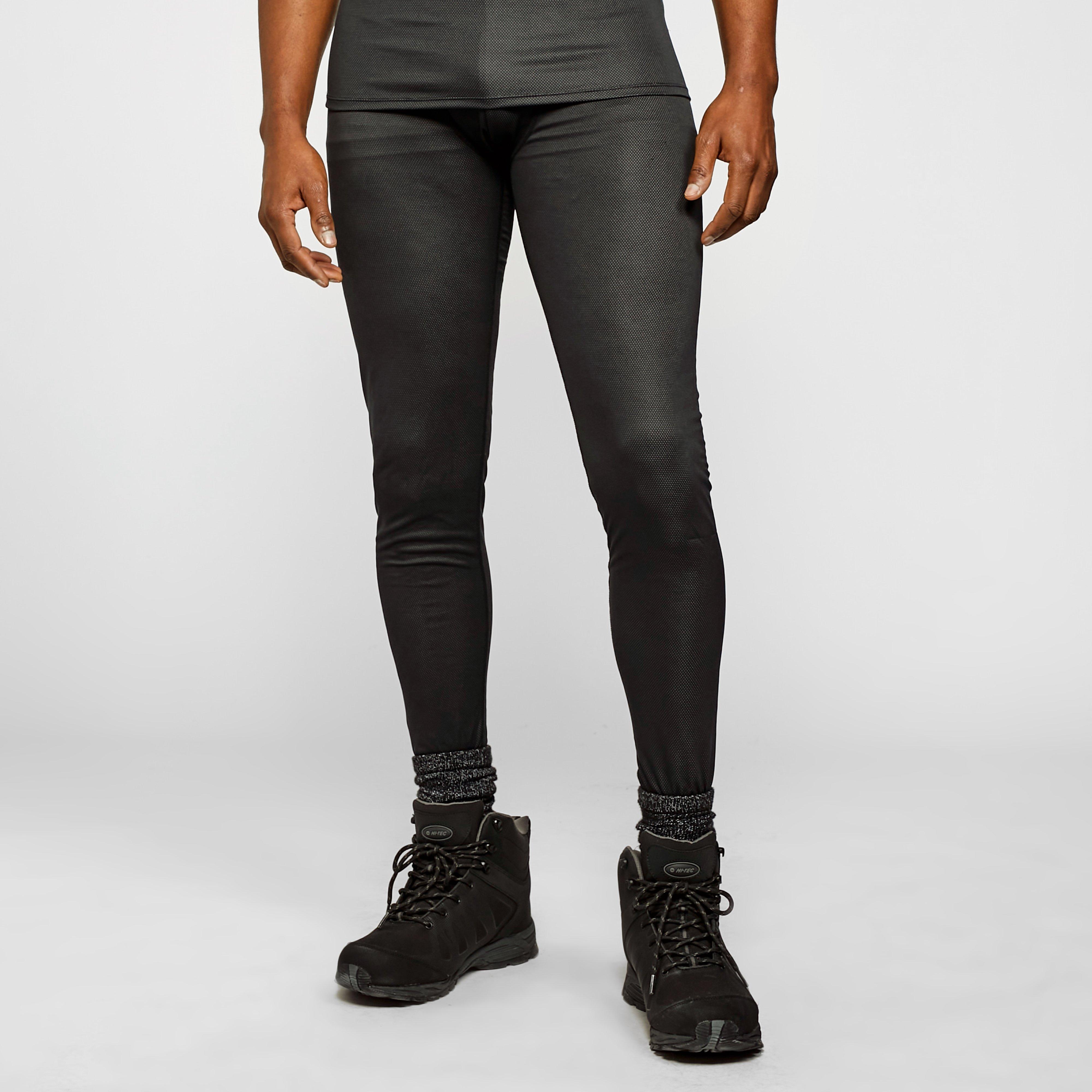 Image of Odlo Men's Active F-Dry Light Eco Baselayer Bottoms - Black/Black, BLACK/BLACK