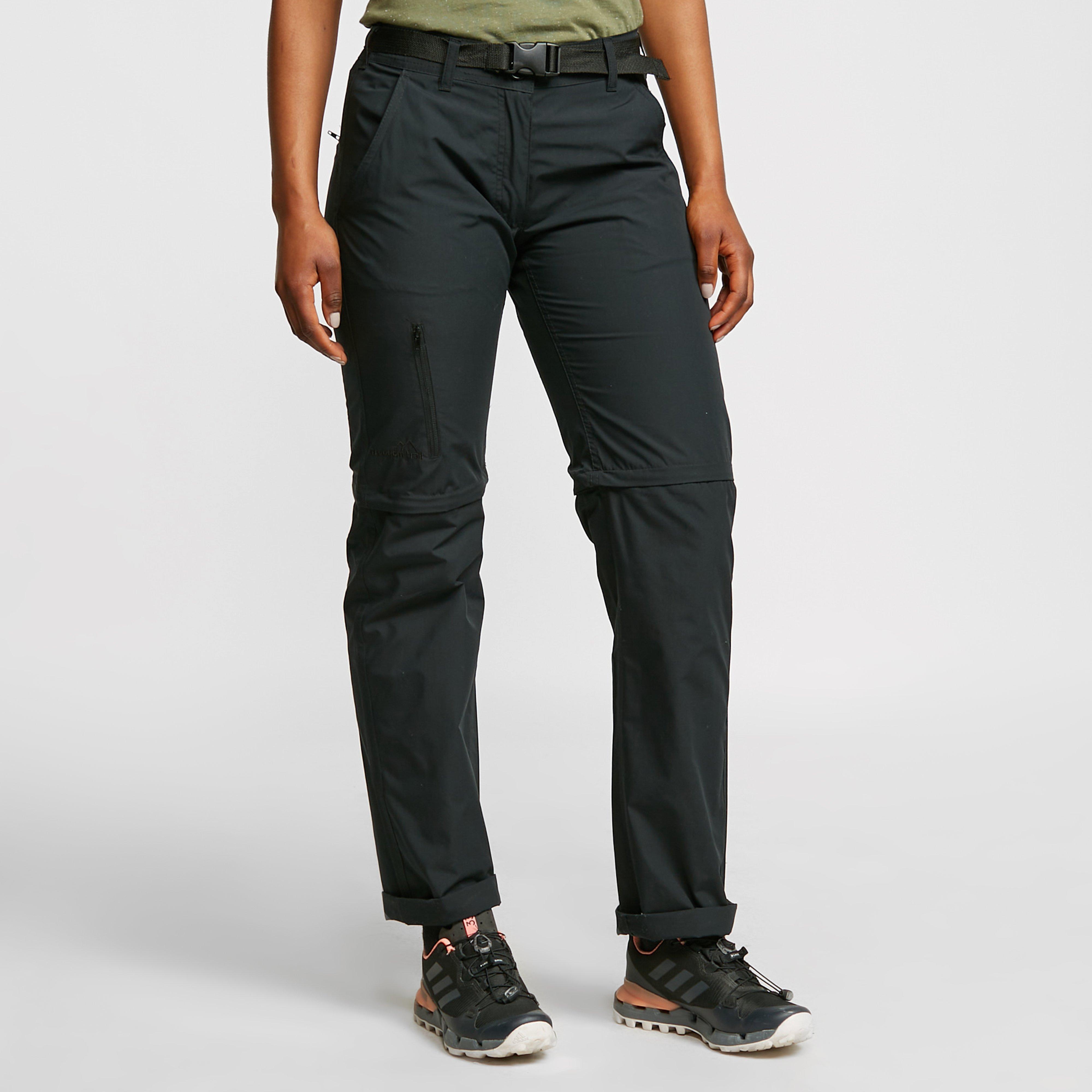 Freedomtrail Women's Nebraska Zip-Off Trousers - Black/Blk, Black
