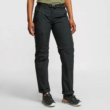 Black FREEDOMTRAIL Women's Nebraska Zip-Off Trousers