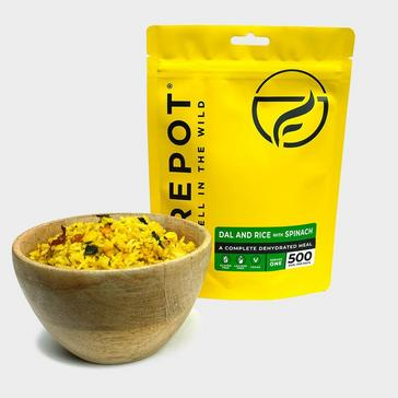 Brown FIREPOT Dal & Rice With Spinach