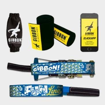 blue GIBBON SLACKLIN Fun Slackline & Tree Wear Set