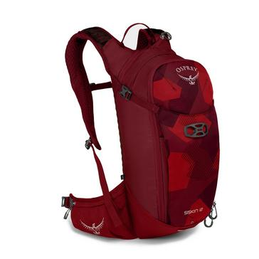 Red Osprey Siskin 12 Litre Hydration Pack