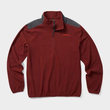 Red Merrell Men's Terrain Quarter-Zip Fleece