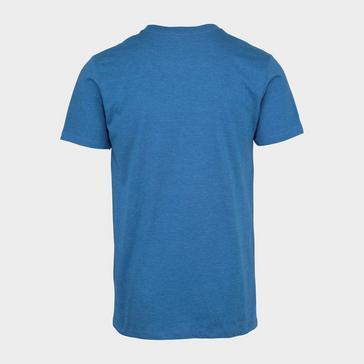 Blue Merrell Men's Striped Range Short Sleeve Tee