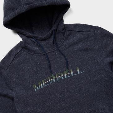 Navy Merrell Men's Gradient Wordmark Pullover Hoodie