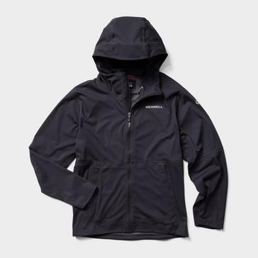 Black Merrell Men's Whisper Rain Jacket