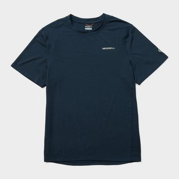 Navy Merrell Men's Trek Short Sleeve T-Shirt