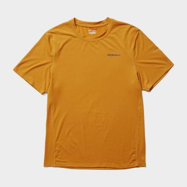 Orange Merrell Men's Trek Short Sleeve T-Shirt