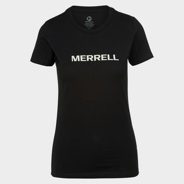 Black Merrell Women's Wordmark Short Sleeve Tee