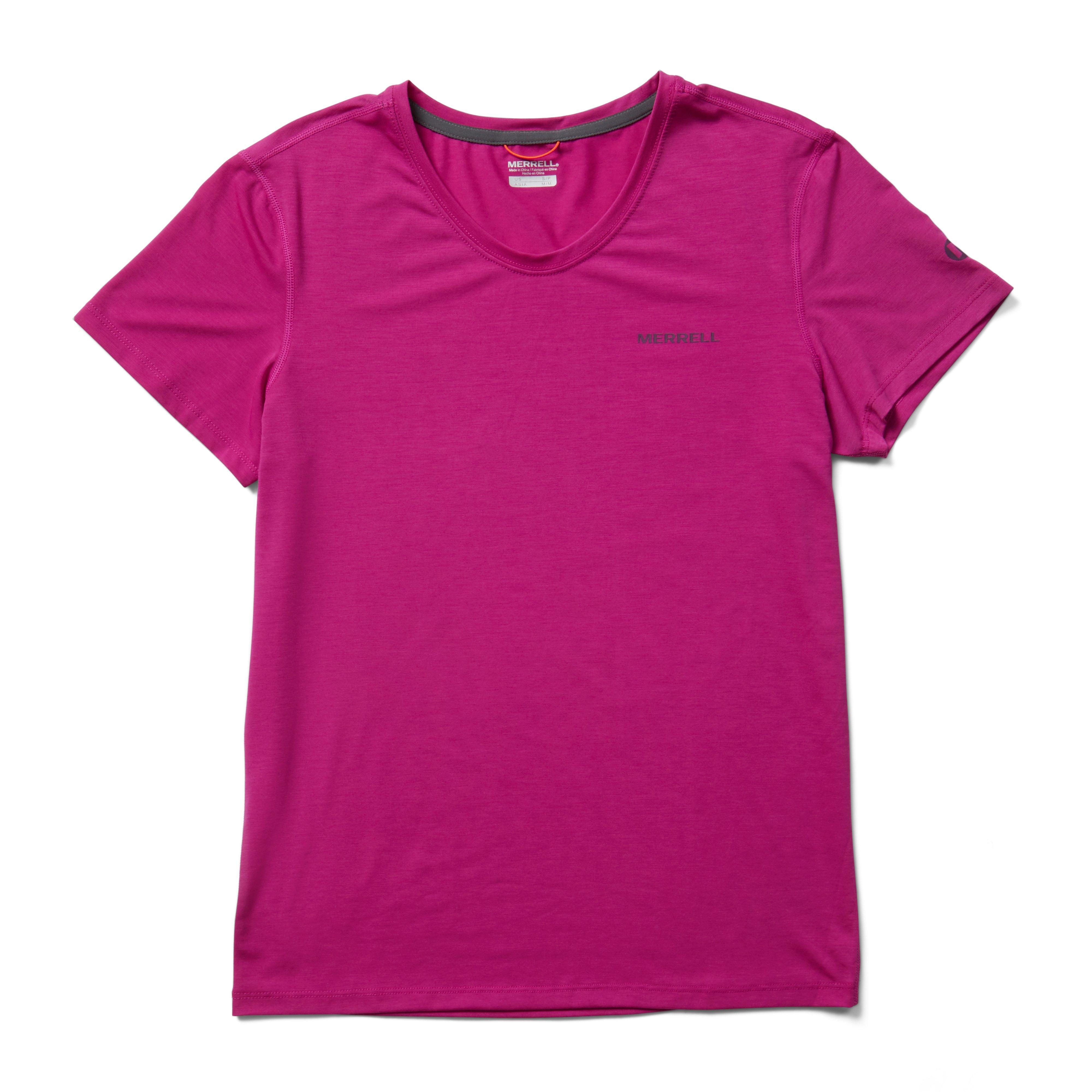 Merrell Women's Tencel Short Sleeve Tee - Pink/Pink, Pink
