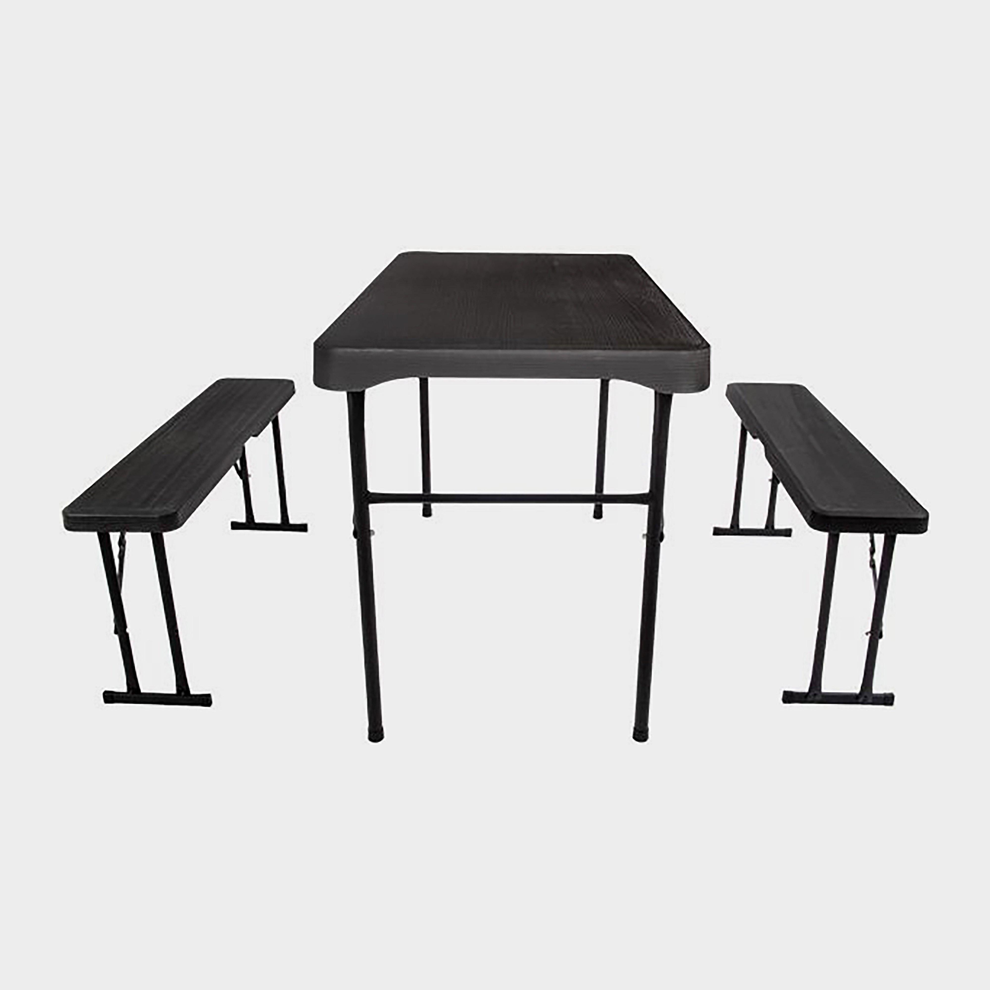 Quest Jet Stream Grassmoor Table And Bench Set - Black/Set, Black