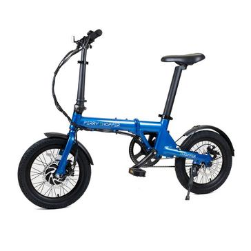 Blue PERRY EHOPPER Perry Ehopper 16 inch Folding Electric Bike