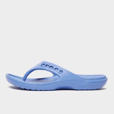 BLUE Crocs Women's Baya Flips