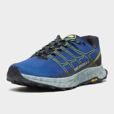 Blue Merrell Men's Moab Flight Trail Running Shoe
