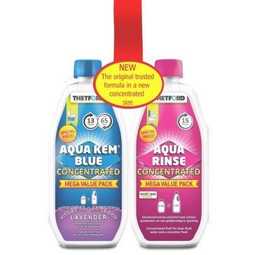 Multi Thetford Aqua Kem Blue & Aqua Rinse Concentrate Duo Pack