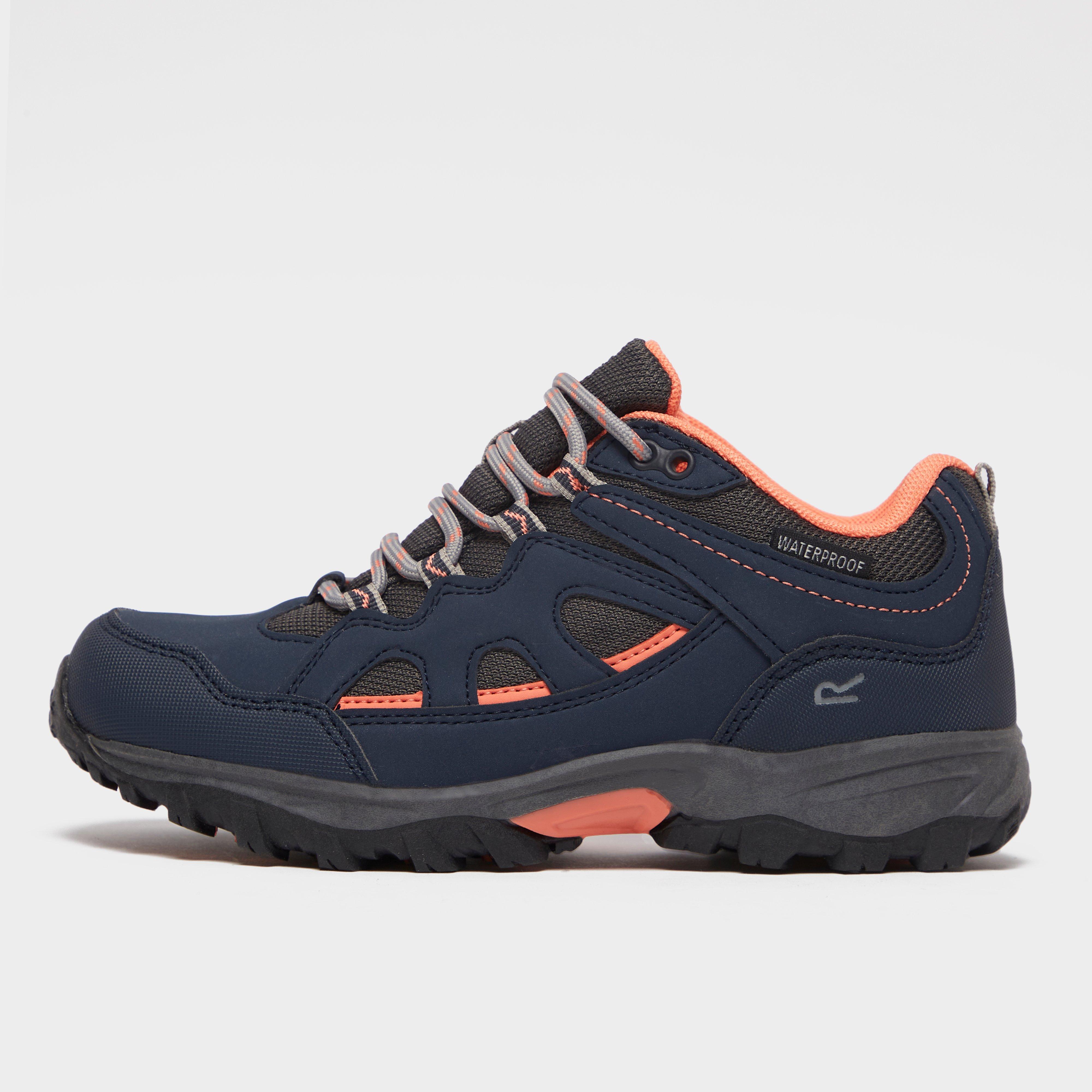 Regatta Kids' Vale Walking Shoes - Navy/Orange, Navy/Orange