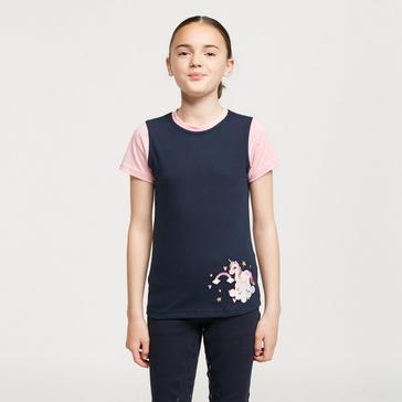 Navy Battles Kids' Little Unicorn T-Shirt