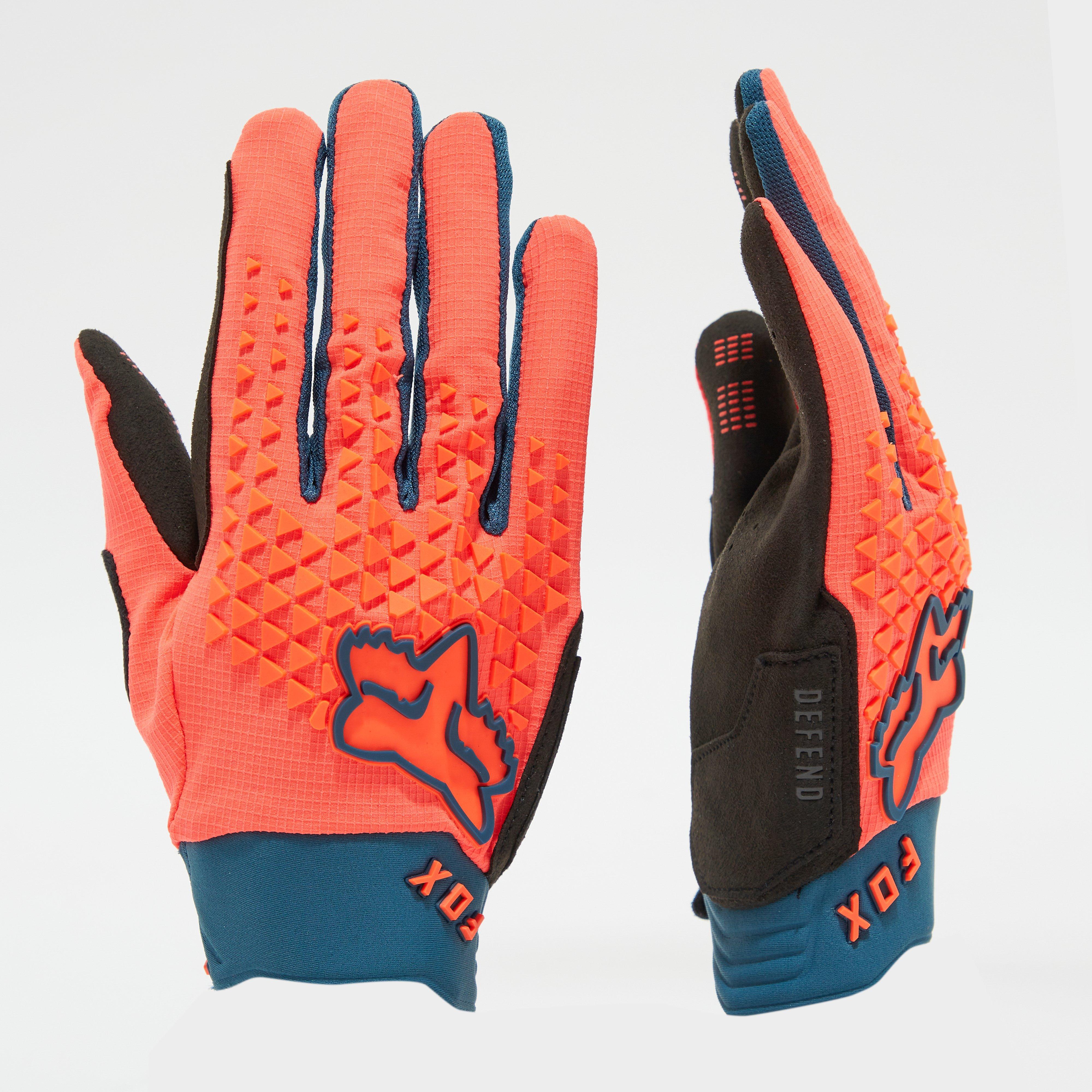 Fox Men's Defend Gloves - Orange/Blue, Orange/Blue
