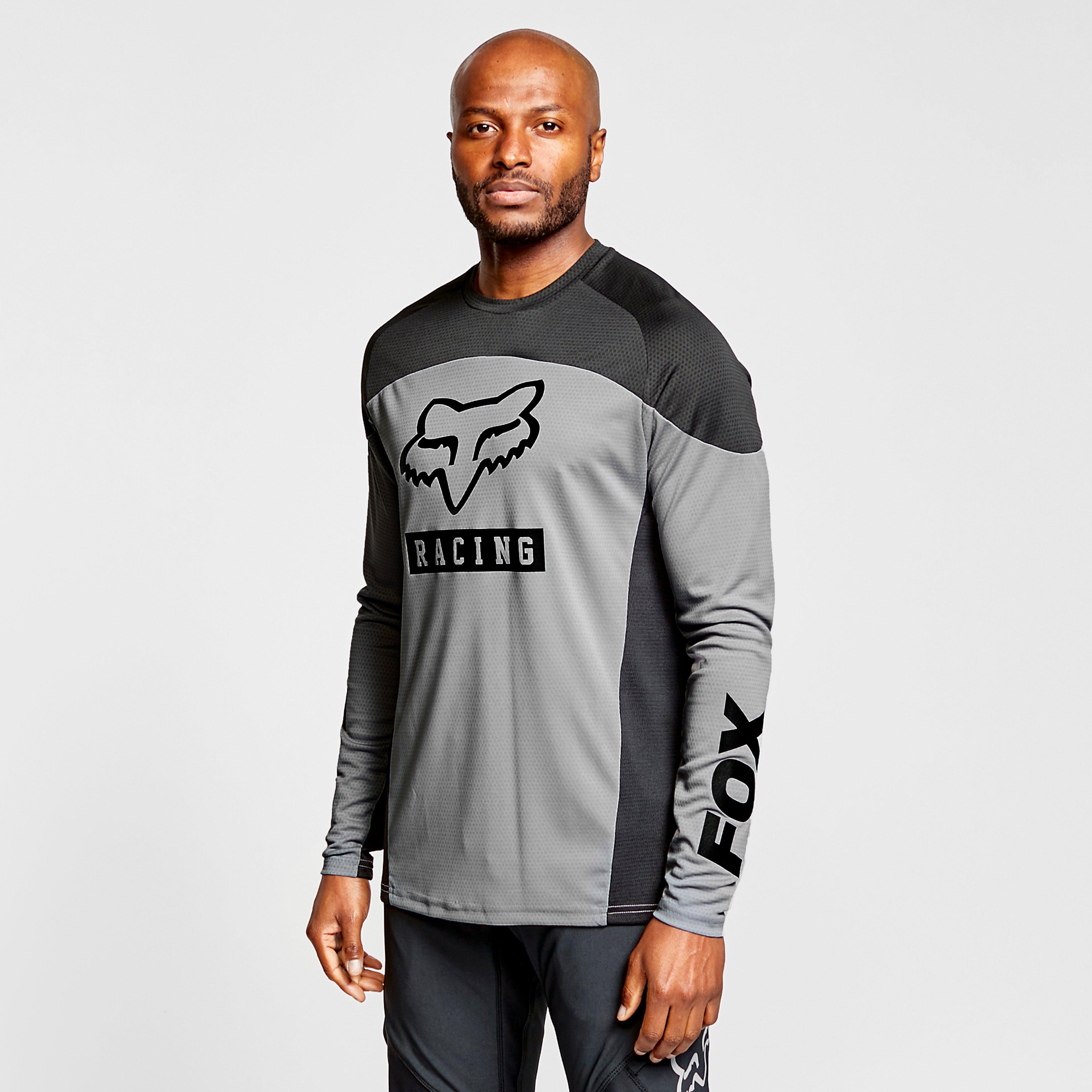 Fox Men's Defend Long-Sleeve Jersey - Grey/Black, Grey/Black