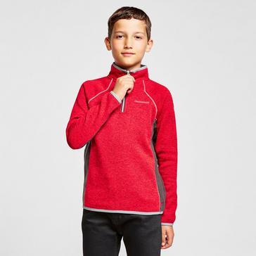 Red Craghoppers Kids' Albilio Half-zip Fleece