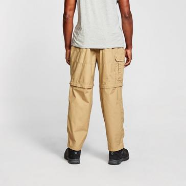 Beige Craghoppers Men's Kiwi Convertible Trousers