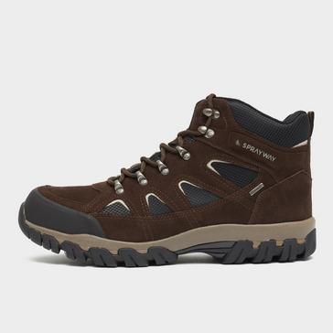 brown Sprayway Men's Mull HydroDRY Walking Boot