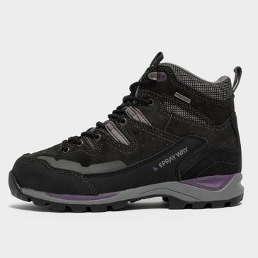 Black Sprayway Women's Oxna HydroDRY Mid Walking Boots