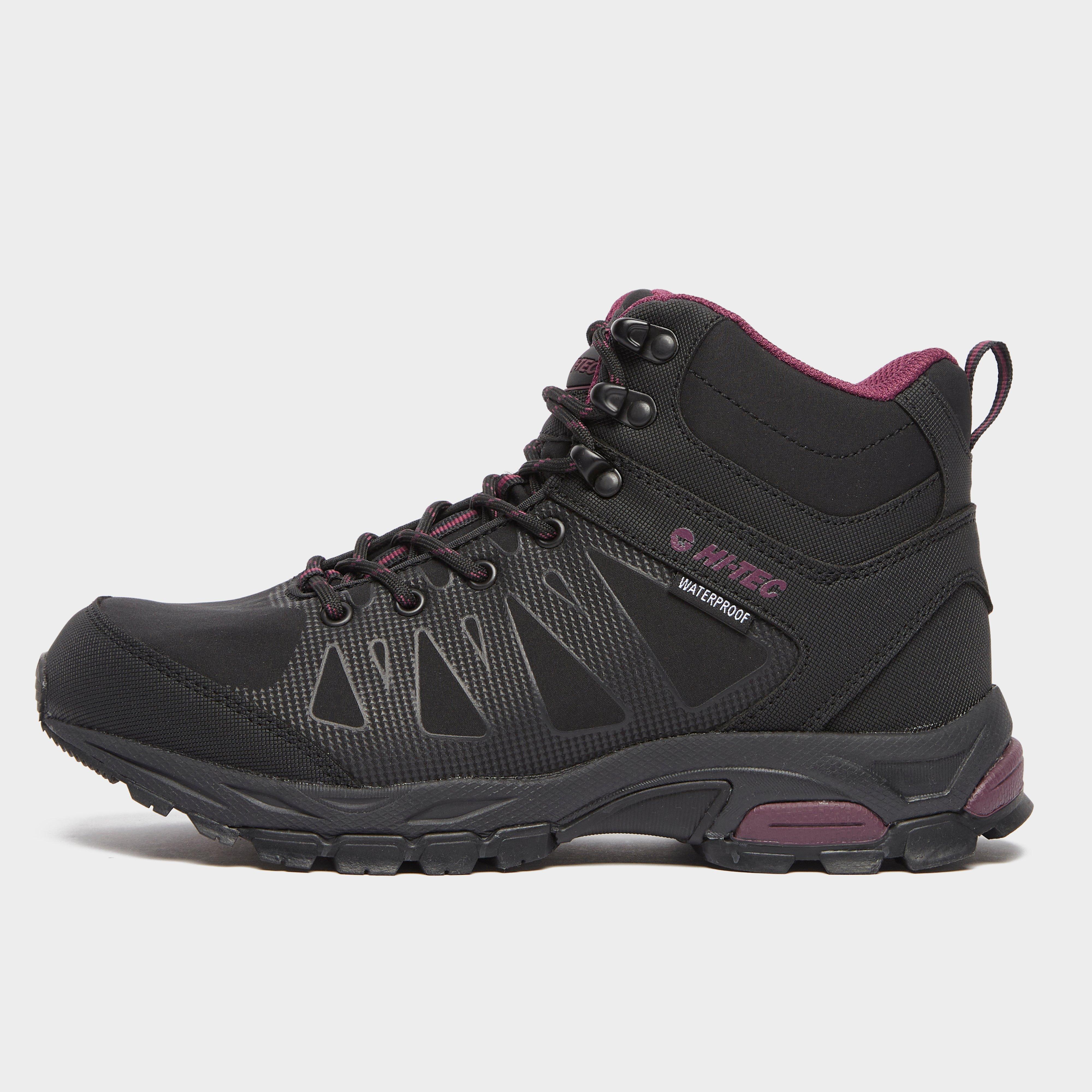 Hi Tec Women's Raven Mid Waterproof Hiking Boot - Black, Black