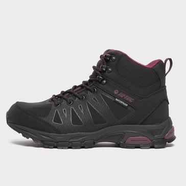 black Hi Tec Women's Raven Mid Waterproof Hiking Boot