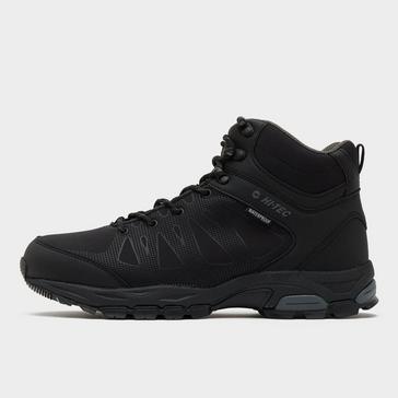 Black Hi Tec Men's Raven Mid Waterproof Hiking Boot
