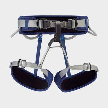 Blue Petzl Corax Harness