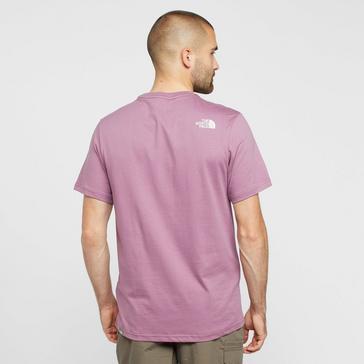 Purple The North Face Men's Mountain Line T-Shirt