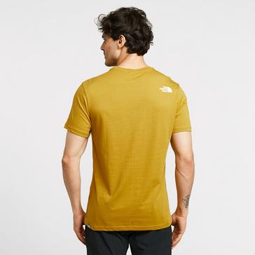 Yellow The North Face Men's Simple Dome T-Shirt