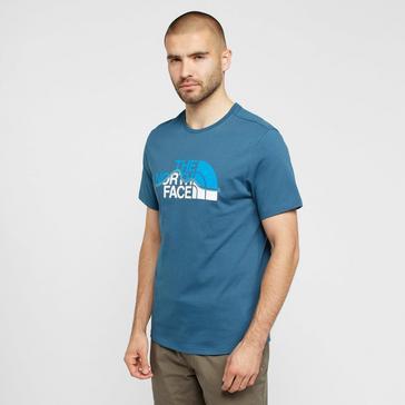 Blue The North Face Men's Mountain Line T-Shirt