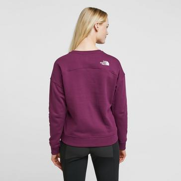 Purple The North Face Women's Drew Peak Crew Sweater