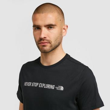 Black The North Face Men's Open Gate Short Sleeve T-Shirt